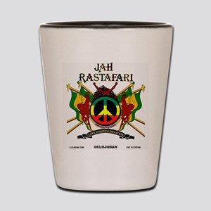 Jah Rastafari Shot Glass