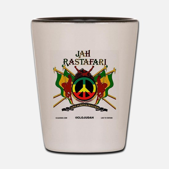 Jah Rastafari Shot Glass