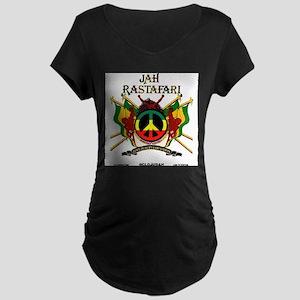 Jah Rastafari Maternity T-Shirt