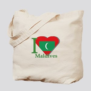 I love Maldives Tote Bag