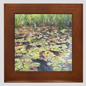 Lily Pond Framed Tile