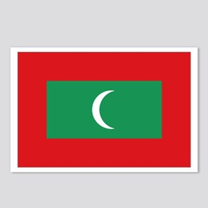 Maldivian flag Postcards (Package of 8)