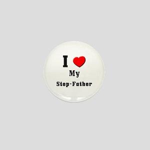 I Love Step-Father Mini Button