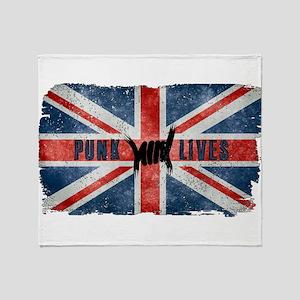 Punk Lives-BRITISH FLAG Throw Blanket