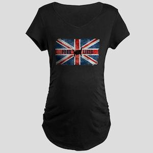 Punk Lives-BRITISH FLAG Maternity T-Shirt