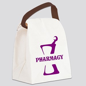 Purple Mortar and Pestle Canvas Lunch Bag