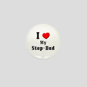 I Love Step-Dad Mini Button