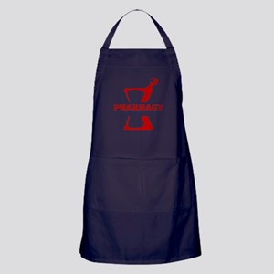 Red Mortar and Pestle Apron (dark)