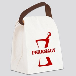 Red Mortar and Pestle Canvas Lunch Bag
