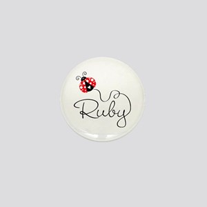 Ladybug Ruby Mini Button
