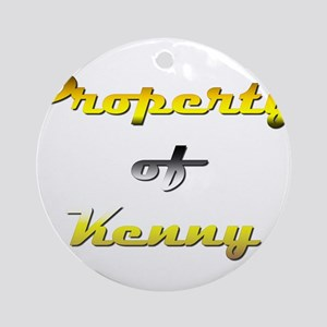 Property Of Kenny Male Round Ornament