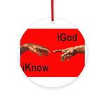 iGodred.jpg Ornament (Round)