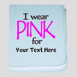 Custom Pink baby blanket
