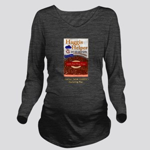 haggis helper Long Sleeve Maternity T-Shirt