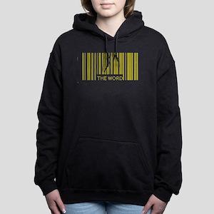 the word barcode 2 Women's Hooded Sweatshirt