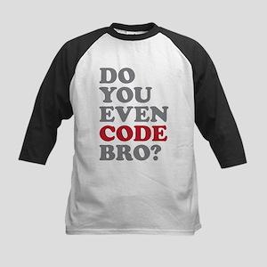 Do You Even Code Bro Kids Baseball Jersey