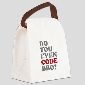 Do You Even Code Bro Canvas Lunch Bag
