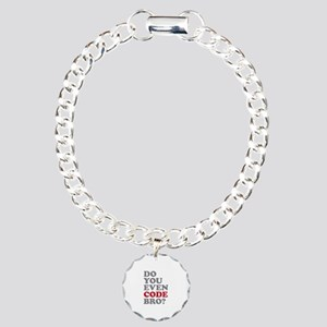 Do You Even Code Bro Charm Bracelet, One Charm