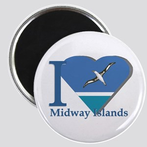 I love Midway Island Magnet