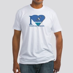 I love Midway Island Fitted T-Shirt
