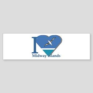 I love Midway Island Bumper Sticker