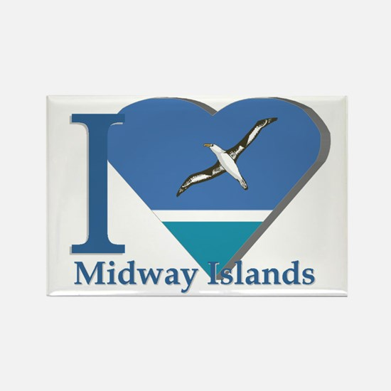 I love Midway Island Rectangle Magnet