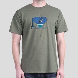 I love Midway Island Dark T-Shirt