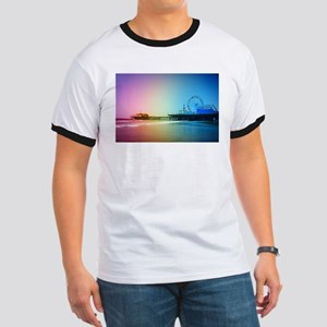 Santa Monica Pier Rainbow T-Shirt