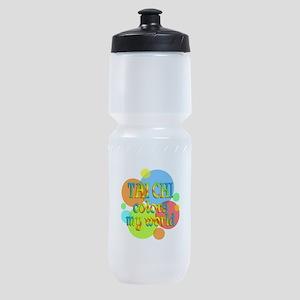 Tai Chi Colors My World Sports Bottle
