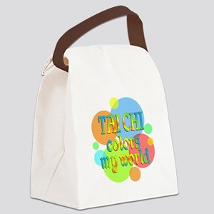 Tai Chi Colors My World Canvas Lunch Bag