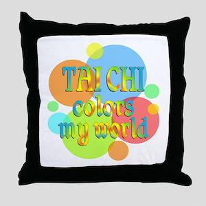 Tai Chi Colors My World Throw Pillow