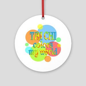 Tai Chi Colors My World Ornament (Round)