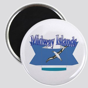 Midway Islands flag ribbon Magnet