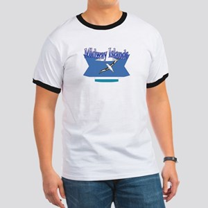 Midway Islands flag ribbon Ringer T