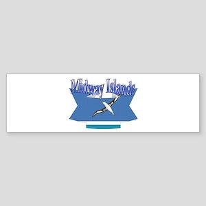 Midway Islands flag ribbon Bumper Sticker