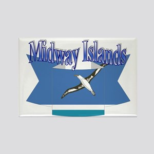 Midway Islands flag ribbon Rectangle Magnet