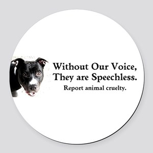 Without Our Voice Round Car Magnet