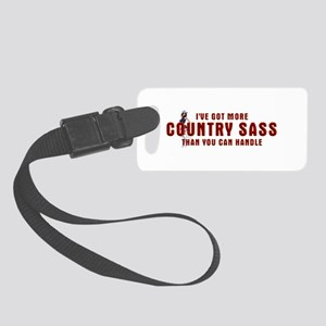 Country Sass Small Luggage Tag