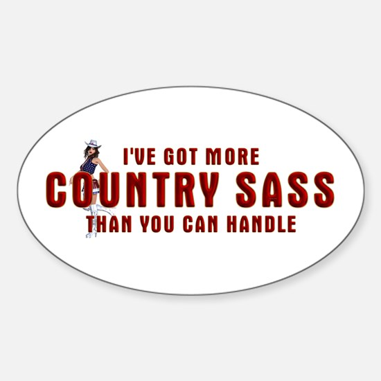 Country Sass Sticker (Oval)