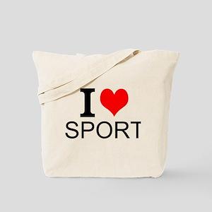 I Love Sports Tote Bag