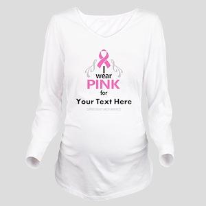 Personal Pink Long Sleeve Maternity T-Shirt