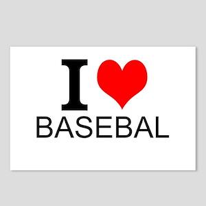 I Love Baseball Postcards (Package of 8)