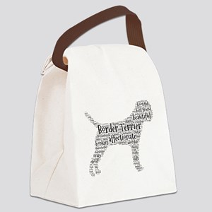 Border Terrier typography Canvas Lunch Bag