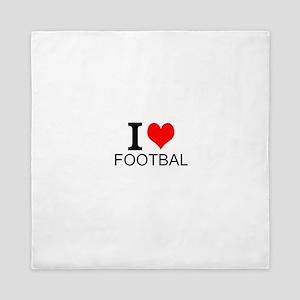 I Love Football Queen Duvet