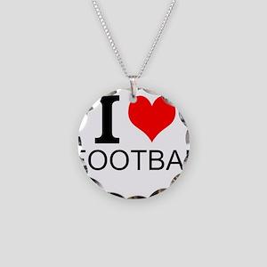 I Love Football Necklace