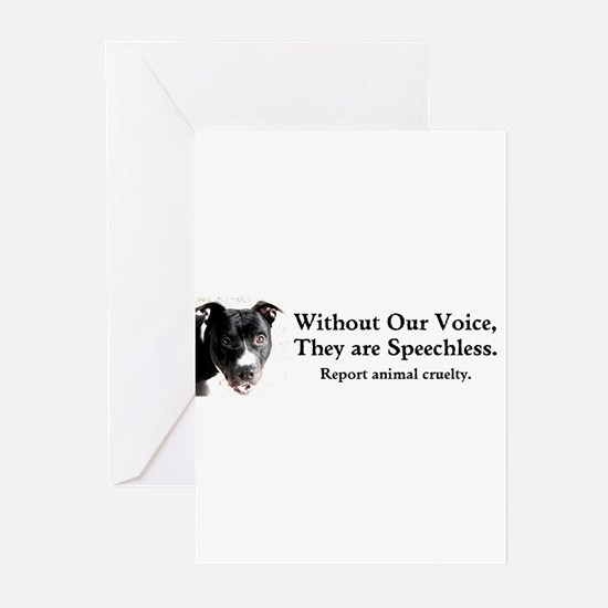 Without Our Voice Greeting Cards