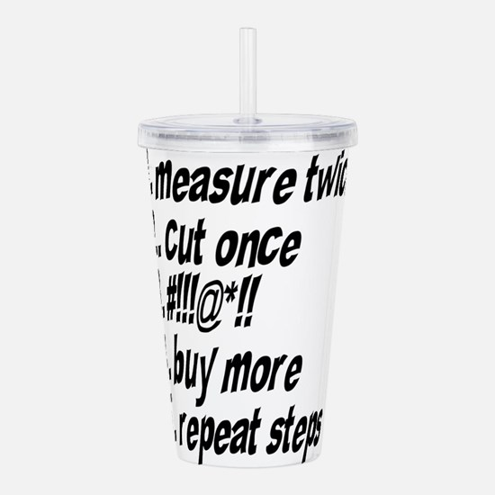Repeat Steps Acrylic Double-wall Tumbler