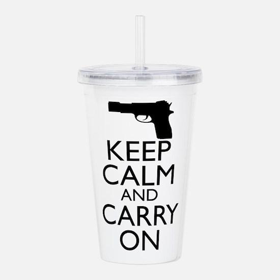 Keep Calm and Carry On Acrylic Double-wall Tumbler