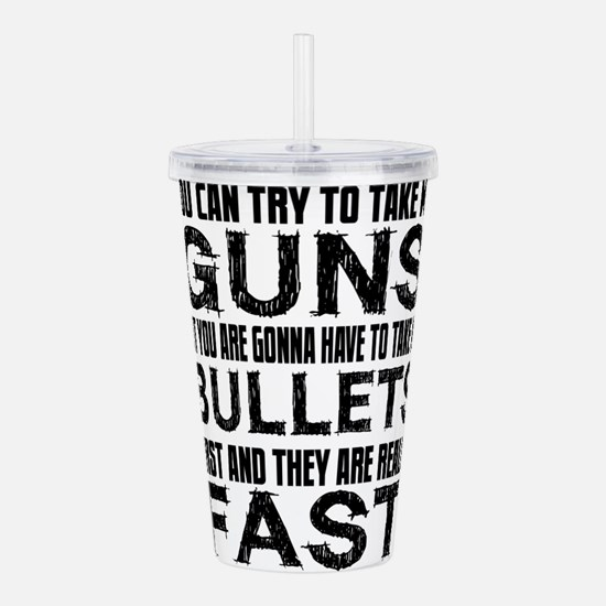 Fast Bullets Acrylic Double-wall Tumbler