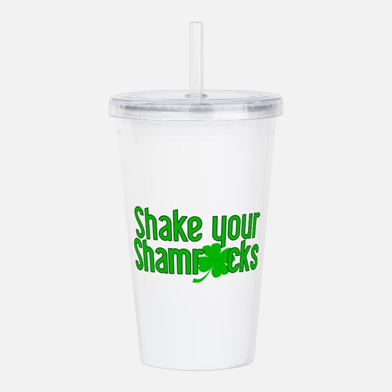 shakeyour shamrocks.png Acrylic Double-wall Tumble